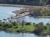 Den nya gång- och cykelbron till Ljungaviken börjar ta form.