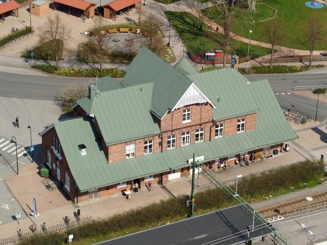 Sölvesborgs resecentrum några spår bor